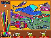 Флеш игра онлайн Кунг-фу Панда - раскраска / Kung Fu Panda Coloring Game