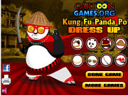 Флеш игра онлайн Kung Fu Po Dress Up