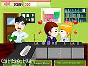 Флеш игра онлайн Поцелуй лаборатории