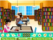 Флеш игра онлайн Лентяйка в библиотеке / Lazy in the Library
