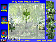 Флеш игра онлайн Lilies lake Jigsaw Puzzle