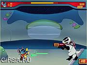 Флеш игра онлайн Стич и Лазерная пушка / Laser Blast
