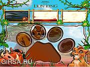 Флеш игра онлайн Король Лев - красочные плитки