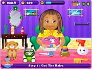 Флеш игра онлайн Прическа для маленькой Дейзи