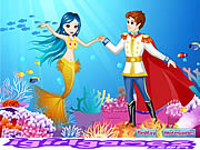 Флеш игра онлайн Русалочка Sweet Love / Little Mermaid Sweet Love