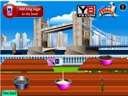 Флеш игра онлайн Лондонский торт / London Cake Cooking