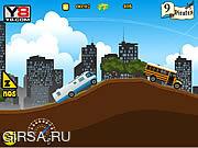 Флеш игра онлайн Автобусный водитель / Long Bus Racing