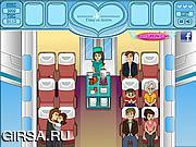 Флеш игра онлайн Любовь в самолете / Love In The Airplane