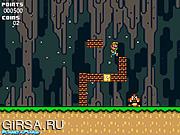 Флеш игра онлайн Луиджи в Пещере мира