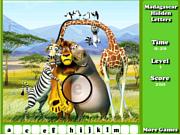 Флеш игра онлайн Мадагаскар - скрытые буквы / Madagascar Hidden Letters