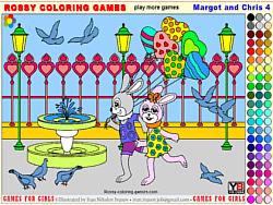 Флеш игра онлайн Маргот и Крис 4  - Раскраска