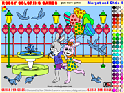 Флеш игра онлайн Марго и Крис 4 / Margot and Chris 4 - Rossy Coloring Games