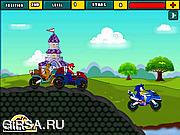 Флеш игра онлайн Марио на мотоцикле / Mario Bike League