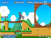 Флеш игра онлайн Mario BMX 2