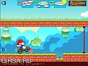 Флеш игра онлайн Mario Car Run