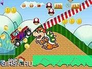 Флеш игра онлайн Путешествие Марио на джипе / Mario Jeep Fun