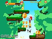 Флеш игра онлайн Прыгающий Марио / Mario Jumping Adventure