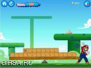 Флеш игра онлайн Марио-строитель / mario logs1