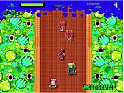 Флеш игра онлайн Сумасшедшая езда с Марио / Mario Madness