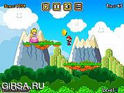 Флеш игра онлайн Марио целует принцессу / Mario Princess Kiss