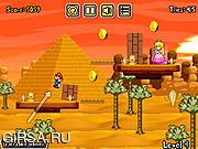Флеш игра онлайн Марио Принцесса поцелуй 2 / Mario Princess Kiss 2