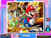 Флеш игра онлайн Марио Пазл / Mario Rotate Puzzle