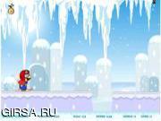 Флеш игра онлайн Mario Snow Fun