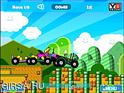 Флеш игра онлайн Mario Tractor Multiplayer