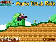 Флеш игра онлайн Марио и Грузовик / Mario Truck Ride