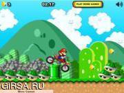 Флеш игра онлайн Экстремальный велосипед Марио / Mario Xtreme Bike