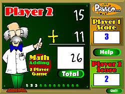 Флеш игра онлайн Math Adding
