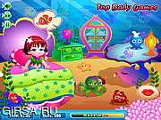 Флеш игра онлайн Забота о русалке Лоле / Mermaid Lola Baby Care