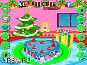 Флеш игра онлайн Украшение рождественского пирога / Merry Christmas Cake Decorations