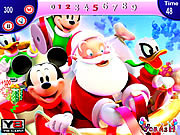 Флеш игра онлайн Микки и Рождество / Mickey and Santa Christmas