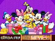 Флеш игра онлайн Микки Маус. Скрытые предметы