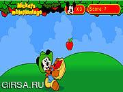 Флеш игра онлайн Плантации яблок Микки / Mickey's Apple Plantation