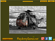 Флеш игра онлайн Military Helicopter Jigsaw