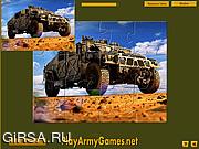 Флеш игра онлайн Military Hummer Jigsaw