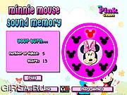 Флеш игра онлайн Мини Маус  и тренировка памяти / Minnie Mouse Sound Memory