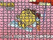 Флеш игра онлайн Мисс Счастье - пазл / Miss Sunshine Puzzle