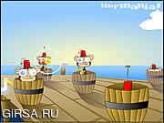 Флеш игра онлайн Бочки обезьян / Barrels of Monkeys