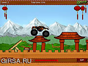 Флеш игра онлайн Монстр Трак - Китай / Monster truck china