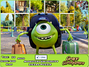 Флеш игра онлайн Университет монстров - Пазл / Monster University Zigzag Puzzle