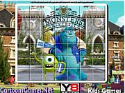 Флеш игра онлайн Загадки университета с монстрами. Пазл / Monsters University Spin Puzzle
