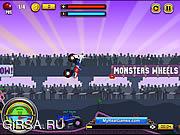 Флеш игра онлайн Monsters Wheels Game