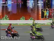 Флеш игра онлайн Ренджеры силы - гонка Moto / Power Rangers - Moto Race