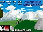 Флеш игра онлайн Крутое путешествие на мотоцикле 2 / Motorbike Obstacle 2