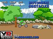 Флеш игра онлайн Препятствия на мотоцикле / Motorbike Obstacles
