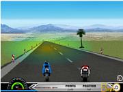 Флеш игра онлайн Гонка на мотоциклах 3D / Motorbike Race 3D
