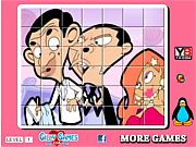 Флеш игра онлайн Мистер спин головоломки фасоли / Mr Bean  spin puzzle